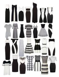 """Monochrome Dresses"" by kaylakay-1 ❤ liked on Polyvore featuring Roland Mouret, New Look, Jessica Wright, Alice + Olivia, Lipsy, Elizabeth and James, Manon Baptiste, Lauren Ralph Lauren, AX Paris and Tia"