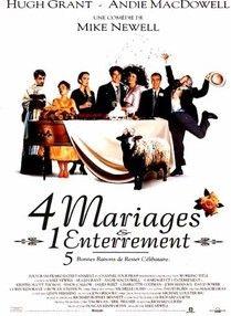 4 mariages et 1 enterrement - Films de Lover, films d'amour et comédies romantiques.