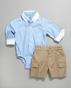 baby boy clothes cutest thing....onesie button down...shut the front door.