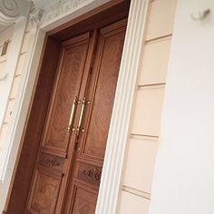 Handmade exterior wooden door Nomidis Luxury Furniture
