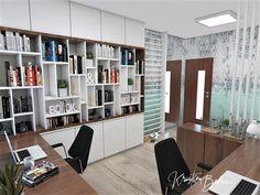 Návrh interiéru pracovne Keď práca teší, pohľad od pracovného stolíka Shelving, Divider, Study, Furniture, Home Decor, Homemade Home Decor, Shelves, Studio, Shelf
