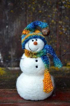 Needle Felted Snowman 423