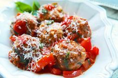 Turkey Meatballs with Tomatoes and Basil | Simply Recipes | Bloglovin'