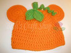 Disney Mickey Mouse Pumpkin Hat - Crochet Hat - MADE TO ORDER. $12.00, via Etsy.