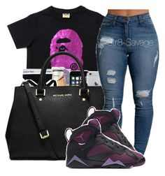 """""""❣"""" by str8-savage ❤ liked on Polyvore featuring MICHAEL Michael Kors and NIKE"""