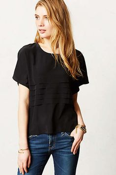 Anthropologie - Pleated Silk Midi Top