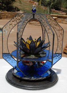 Under the Lily Pad 3D Stained Glass Whirl on by WhimziesofTexas, $149.00