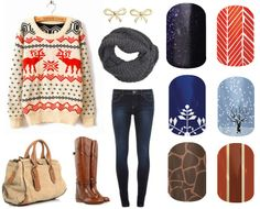 Which of these nail wraps would you wear with this warm winter outfit? No outfit is complete without your Jamberry Nail wraps!