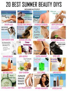20 Best summer beauty tips, tricks and DIYs - ♥ IndianBeautySpot.Com ♥