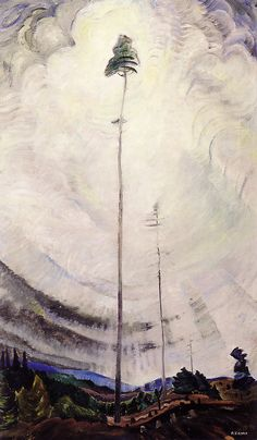 "One of my favourite Emily Carr paintings: ""Scorned as Timber, Beloved of the Sky"" -1935"