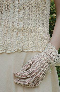 Fall wedding Lace Gloves pattern by Jennie Atkinson Crochet Gloves, Crochet Wrist Warmers, Crochet Lace, Dress Gloves, Lace Gloves, Fingerless Mittens, Knit Mittens, Mitten Gloves, Antique Lace