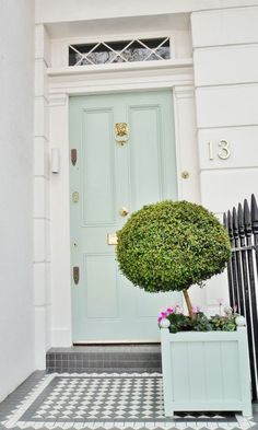 The charleston look. I love the mint with the grey tile.