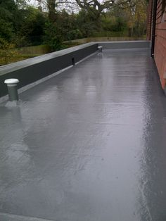 Roof Extension, Fibreglass Roof, Flat Roof, Concrete, New Homes, Construction, Bathroom, Building, Ideas