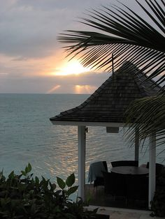 Caribbean sunset in Turks & Caicos Islands