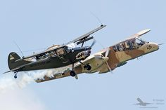 Cessna O-1 Bird Dog and North American OV-10 Bronco - Historical Aircraft Group FlyParty 2016