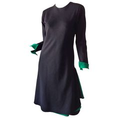 Halston 1970s   From a collection of rare vintage day dresses at http://www.1stdibs.com/fashion/clothing/day-dresses/