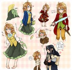 Genderbent Bilbo, anime style. Bilba! That is so freaking adorable! Aah!