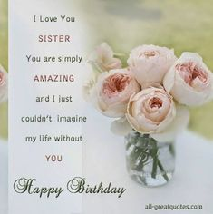 Best Happy and Funny Birthday Wishes for Sister with Images, Quotes and Poems. These birthday wishes for sister are from friends, in laws and family. Religious Birthday Wishes, Happy Birthday Wishes Sister, Birthday Wishes Messages, Sister Birthday Quotes, Happy Birthday Pictures, Happy Birthday Sister, Happy Birthday Cards, Sister Messages, Birthday Greetings