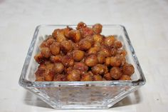 Sweet & Salty Spiced Baked Chickpeas - i heart eating