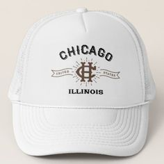 a7a5442219a84 Chicago Illinois Hat - kids kid child gift idea diy personalize design  Chicago Shopping