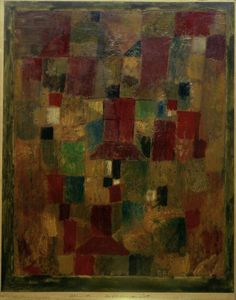 Paul Klee (1879-1940), Herbstsonniger Ort (Sunny Autumn Place), 1921 (1980). Oil paint on paper, with watercolour, on cardboard. 44cm H x 35 cm W.