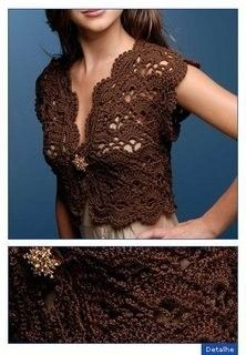 "Crochet gold: The bolero ""Chocolate""!"