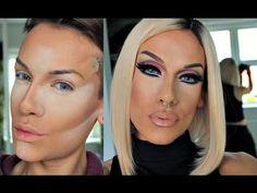 Drag Makeup Tutorial w/ Highlight & Contour Techniques - YouTube