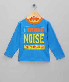 Take a look at this Blue I Make Noise Tee - Toddler & Boys by Funky Monkey on #zulily today!