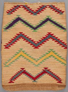 American Indian Art:Baskets, A PLATEAU TWINED CORNHUSK BAG. c. 1900...