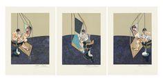Tableaux sur toile, reproduction de Francis Bacon, Trois étude d'hommes de dos