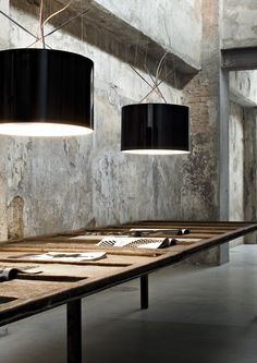 Flos Ray oversized drum pendant light- great industrial workspace lighting