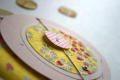 Fleur de pommier : faire part de mariage #jaune #coeur #bohème#chic# bouton#fairepartpapierjaponais #papierjaponais #fleursdecerisiers