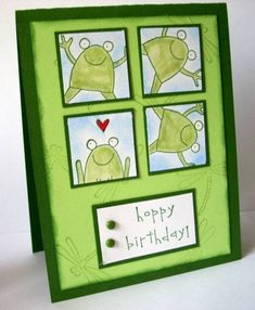 Hoppy Bday Twin 1 by beaddict - Cards and Paper Crafts at Splitcoaststampers