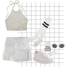 """white trash"" by vivienne-woods on Polyvore"