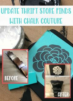 How to Update Wooden Thrift Store Finds with Chalk Couture #upcycle #diy #inspirationspotlight