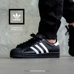 #adidasoriginals #blackwhite #superstar #adidassuperstar #sneakerbaas #baasbovenbaas  Adidas Superstar Foundation - Available now € 89,99  For more info about your order please send an e-mail to webshop #sneakerbaas.com!