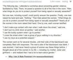 Ask a man what he does to protect against sexual assault. Then ask a woman...