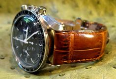 Alligator Straps Omega Speedmaster | couple of shots from their website: