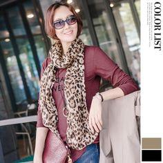 Korea womens shopping mall [JOAMOM] Nisa Leopard Scarf / Size : FREE / Price : 22.86 USD #korea #fashion #style #fashionshop #joamom #missyfashion #missy #scarf #leopard