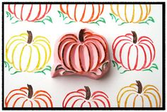 Fall Pumpkin Hand Carved Rubber Stamp by SweetSpotStampShop, $6.99