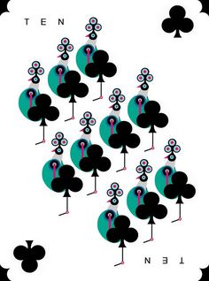 """10♣ Playing Card Art: """"An Ace in the Pack"""" Playing Cards by Lesley Barnes"""