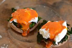 #poached eggs #kale #english muffin