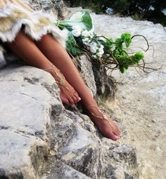 #jewelry #fashion #barefoot #slave #anklet #model #photography #goddess $65.00 #leafonthewinddesigns #etsy #chenincamille