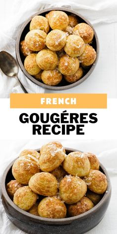 These delicious, cheese filled puffed Gougéres are a French delight and so incredibly easy to make. They are perfect as a snack or alongside a main meal. Fun Baking Recipes, Snack Recipes, Snacks, Appetizer Salads, Appetizer Recipes, Appetizers, Bean Recipes, Cheese Recipes, Gougeres Recipe