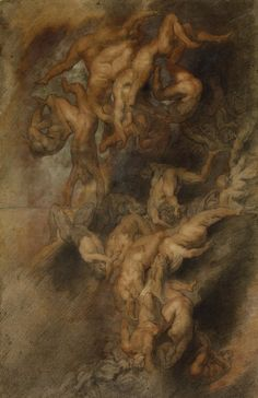 Fall of the Damned (1614/25) ~ Sketch by Studio of Peter Paul Rubens