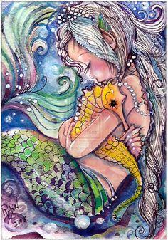 Sea horse Hugs by *robinpushay on deviantART