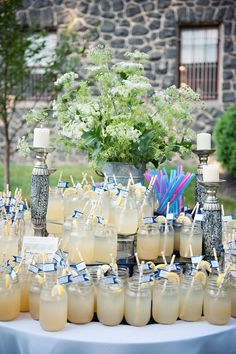 Mason Jar Wedding Glasses - PHOTO SOURCE • TINA JAY PHOTOGRAPHY | Featured on WedLoft