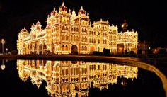 Illuminated Mysore palace on Dasara. Plan a trip to Mysore with family and friends and enjoy Dasara 2013.Rent Cabs in Bangalore at CK Cabs. http://ckcabs.com/tours-travels.html