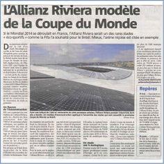 27 janv. 2014 : l'Allianz Riviera cité comme modèle de stade éco-sportif.