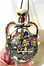 Handmade Painted Armenian Ceramic Holy Land Jerusalem View Wall Hanging Jug... $15.90